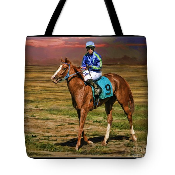 Juan Hermandez On Horse Atticus Ghost Tote Bag