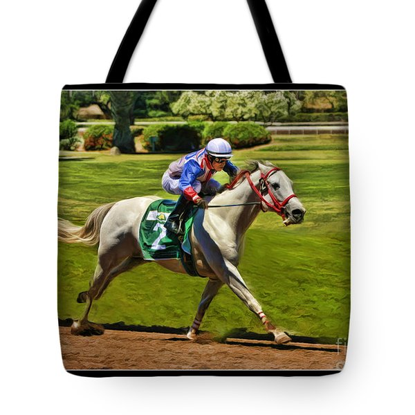 Juan Sanchez On Horse Sammy V  Tote Bag by Blake Richards