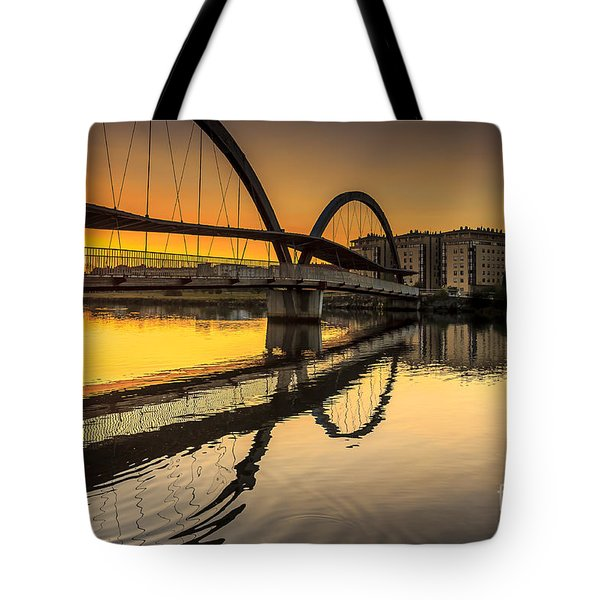 Jubia Bridge Naron Galicia Spain Tote Bag