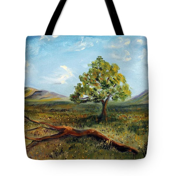 Tote Bag featuring the painting Jubilant Fields by Meaghan Troup