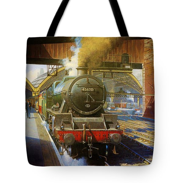 Jubilee 4.6.0 At Liverpool Lime Street. Tote Bag by Mike  Jeffries