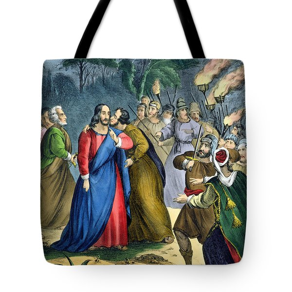 Judas Betrays His Master, From A Bible Tote Bag