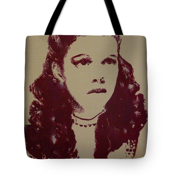 Tote Bag featuring the painting Judy Garland by Cherise Foster