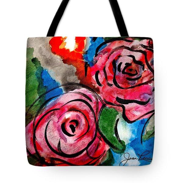 Juicy Red Roses Tote Bag