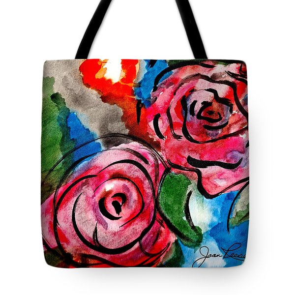 Juicy Red Roses Tote Bag