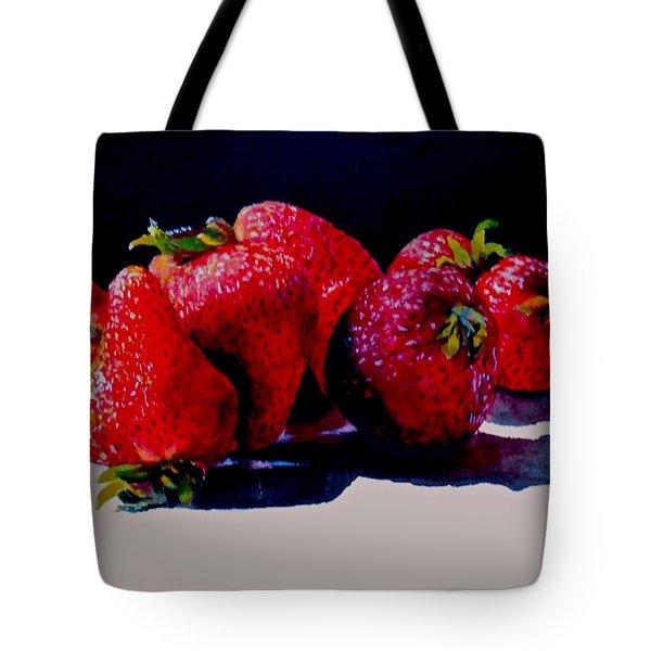 Juicy Strawberries Tote Bag