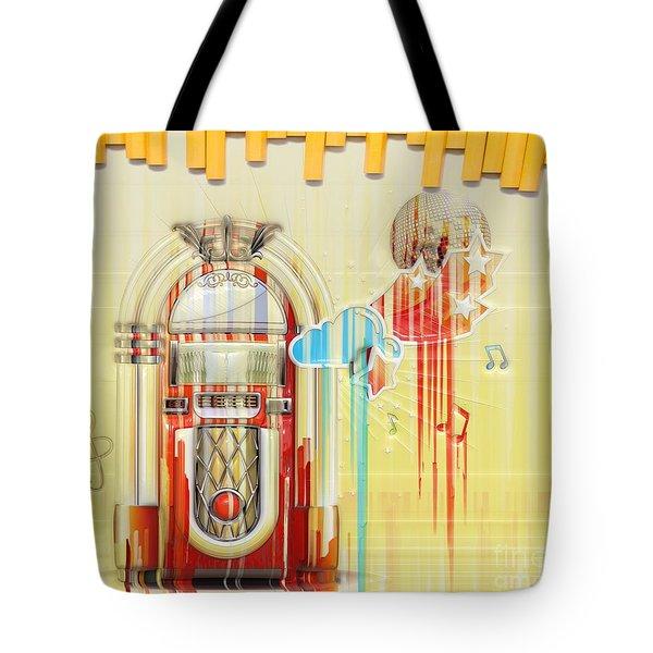 Juke Box Tote Bag by Liane Wright