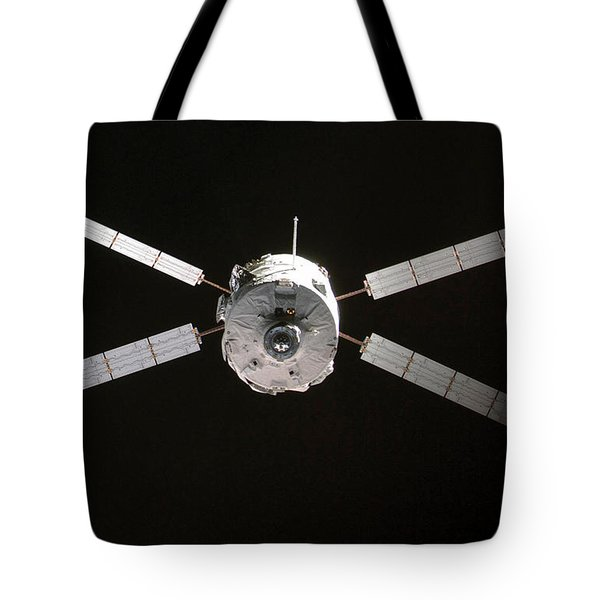 Jules Verne Automated Transfer Vehicle Tote Bag by Anonymous