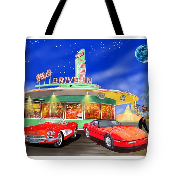 Julies Corvettes Tote Bag