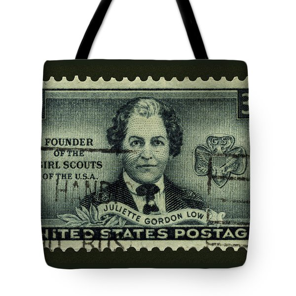 Girl Scouts Founder Juliette Gordon Low Postage Stamp Tote Bag