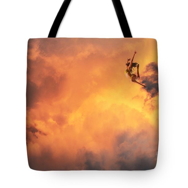 'jump Into The Fire' Tote Bag