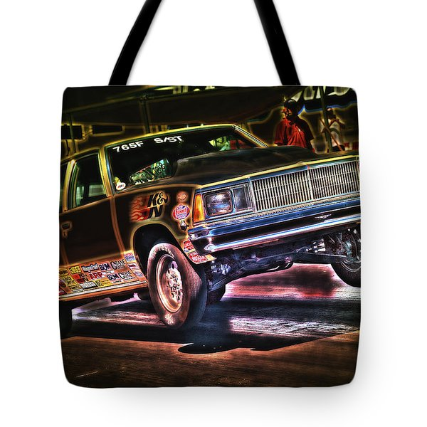 Jumping Chevelle Tote Bag