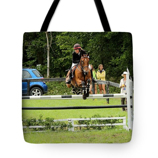 Jumping Eventer Tote Bag