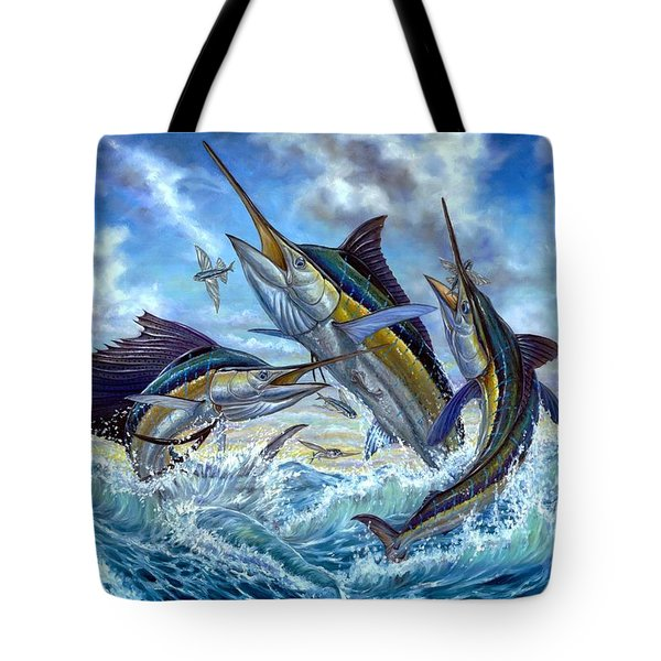 Jumping Grand Slam And Flyingfish Tote Bag