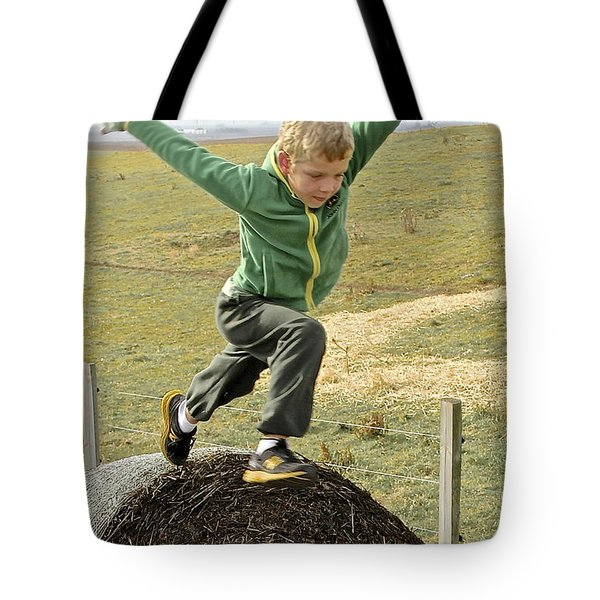 Jumping Haystacks Tote Bag