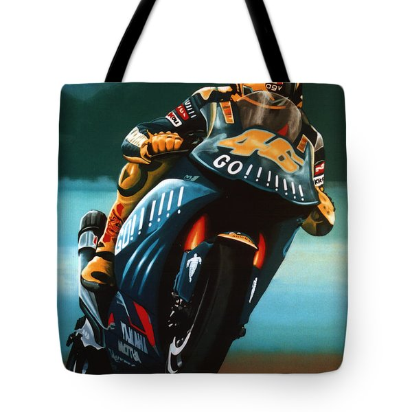 Jumping Valentino Rossi  Tote Bag
