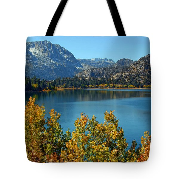 Tote Bag featuring the photograph June Lake Blues And Golds by Lynn Bauer