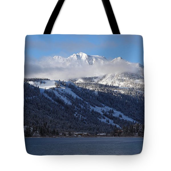 June Lake Winter Tote Bag