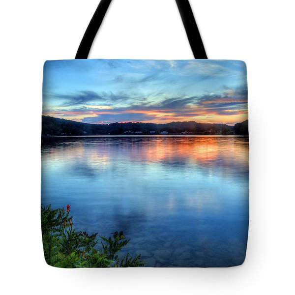 Tote Bag featuring the photograph June Sunset by Jaki Miller