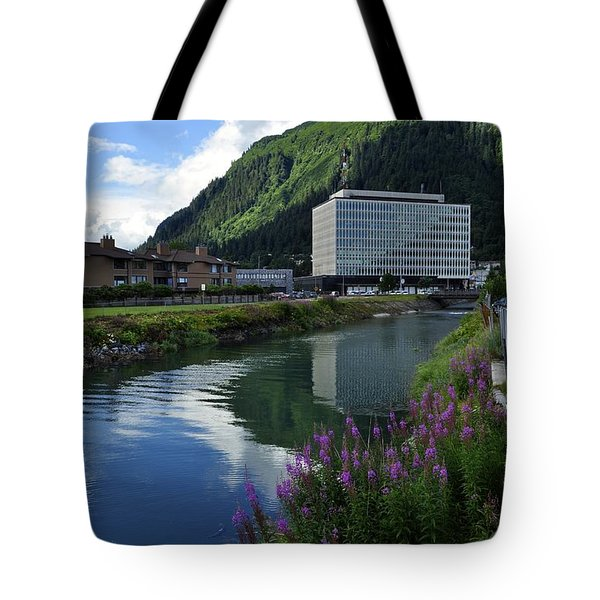 Juneau Federal Building Tote Bag by Cathy Mahnke