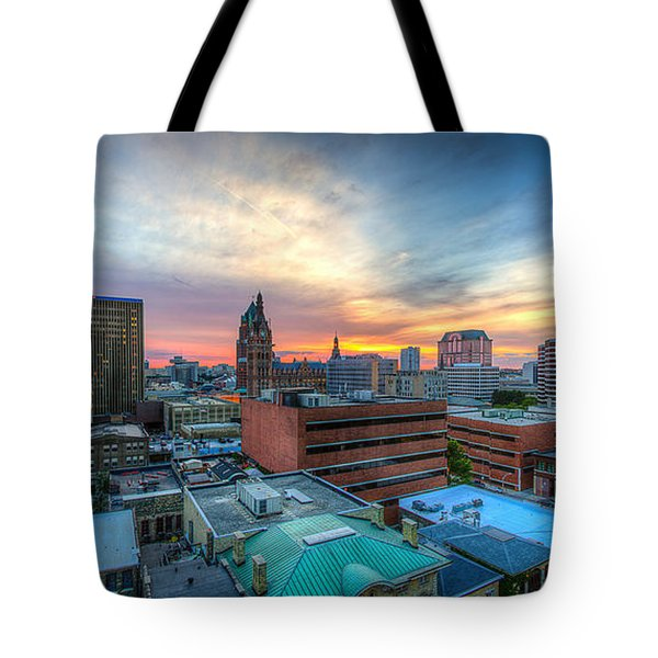 Juneau Town Sunset Tote Bag by Andrew Slater