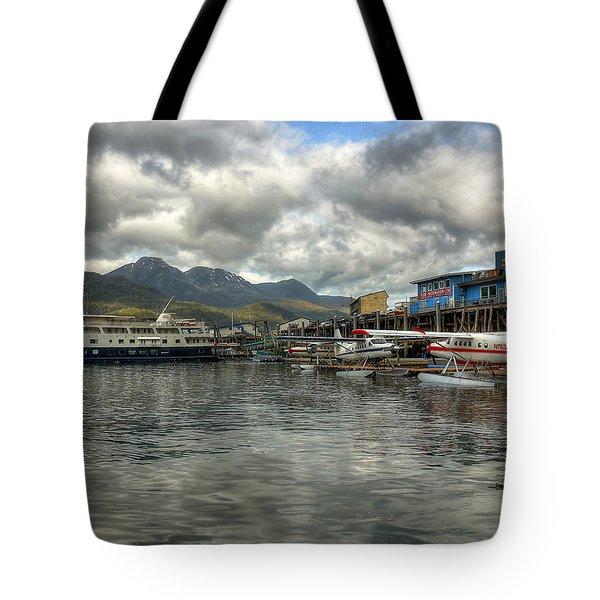 Juneau's Hangar On The Wharf Tote Bag