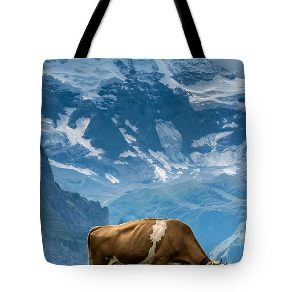 Jungfrau Cow - Grindelwald - Switzerland Tote Bag
