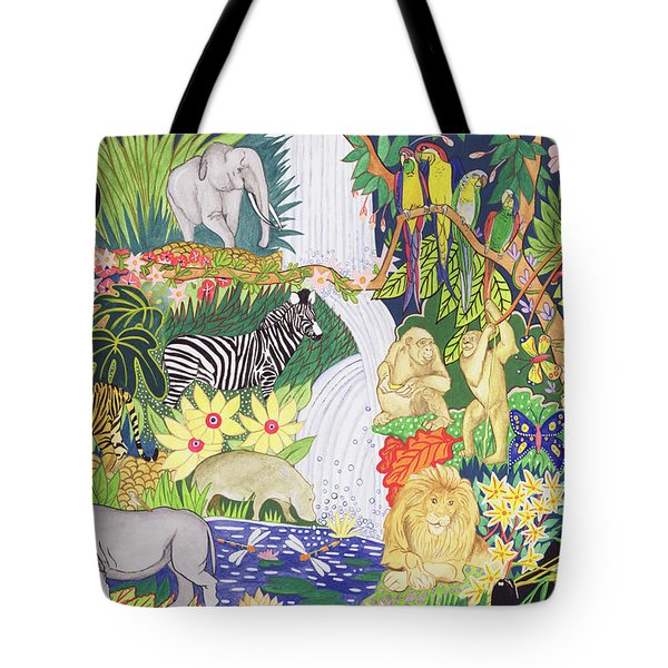 Jungle Animals Wc Tote Bag