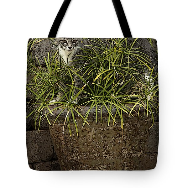 Jungle Kitty All Profits Go To Hospice Of The Calumet Area Tote Bag