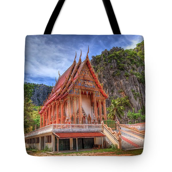 Jungle Temple V2 Tote Bag by Adrian Evans