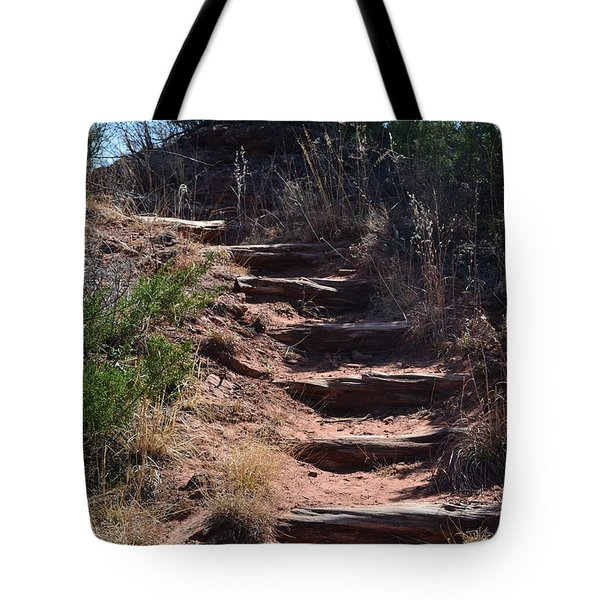 Juniper Ridge Steps Tote Bag