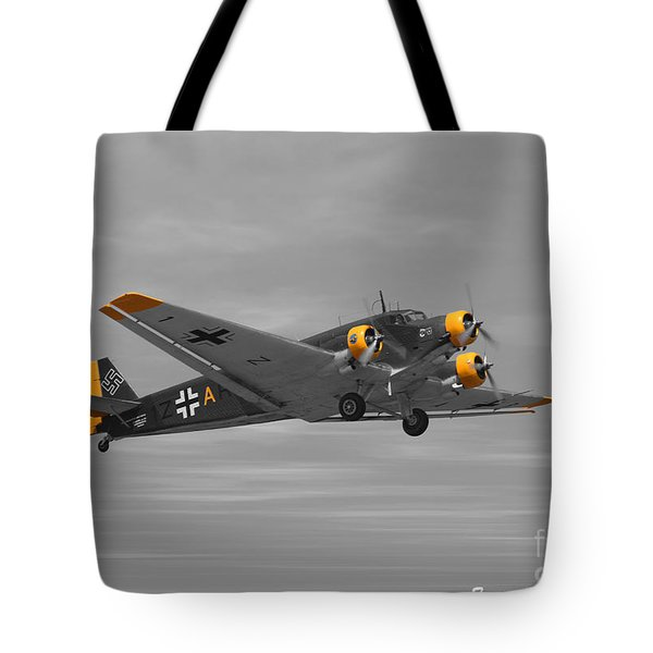 Junkers Ju 52 Tote Bag by Tommy Anderson