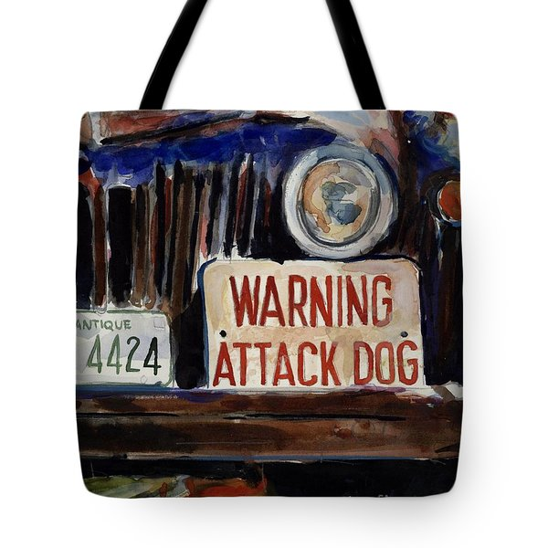 Junkyard Dog Tote Bag by Molly Poole