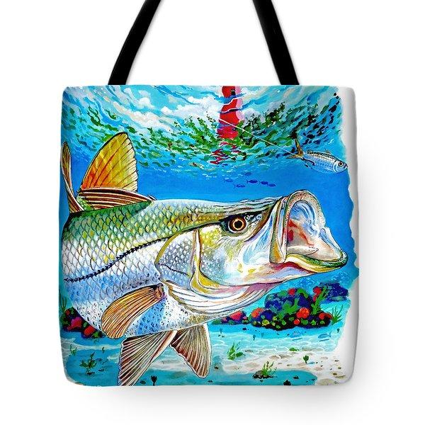 Jupiter Snook Tote Bag by Carey Chen