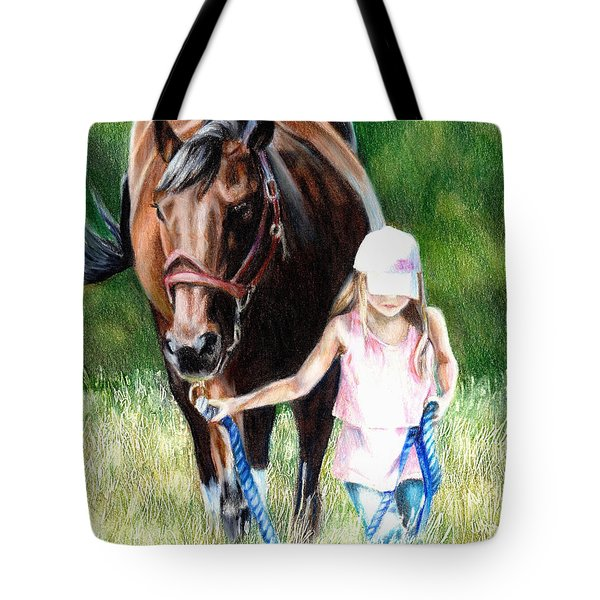 Just A Girl And Her Horse Tote Bag by Shana Rowe Jackson
