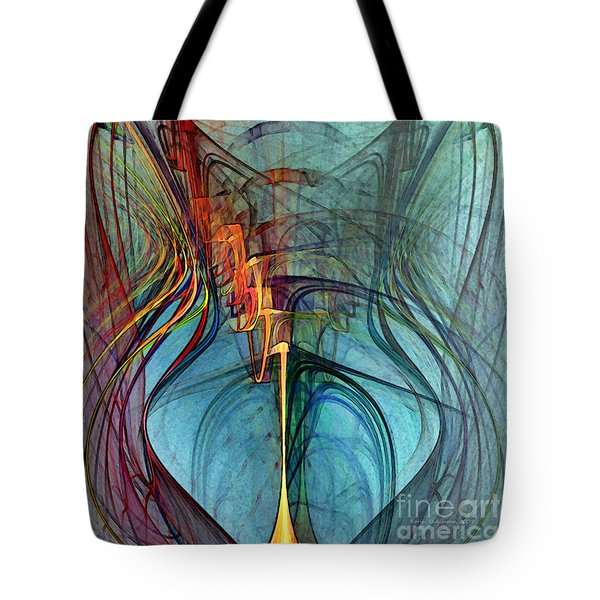 Just A Melody-abstract Art Tote Bag