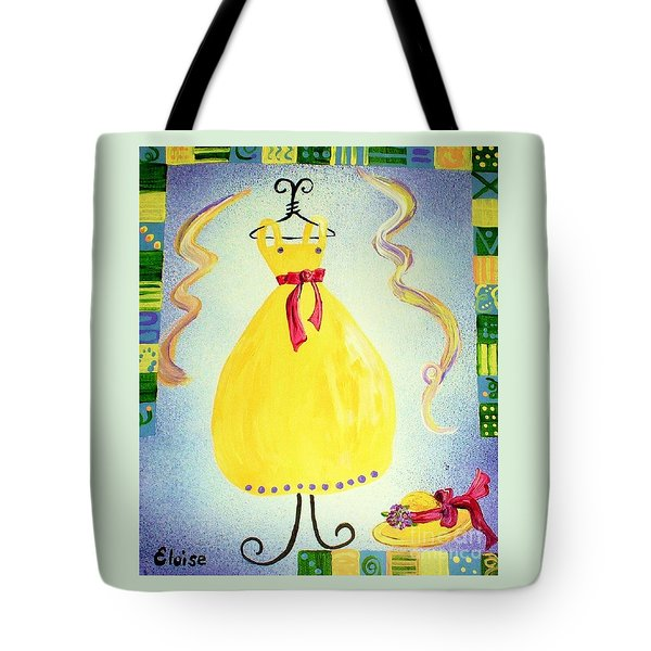Tote Bag featuring the painting Just A Simple Hat And Dress by Eloise Schneider