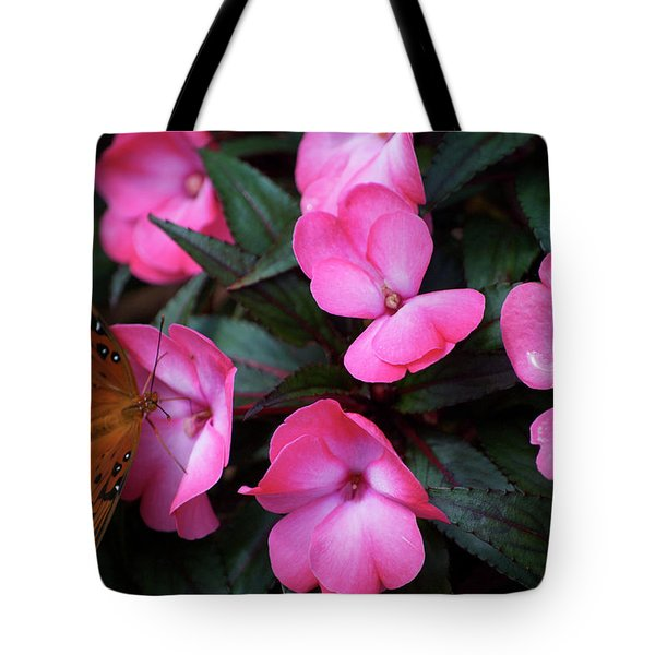 Tote Bag featuring the photograph Just A Small Taste For This Butterfly by Thomas Woolworth
