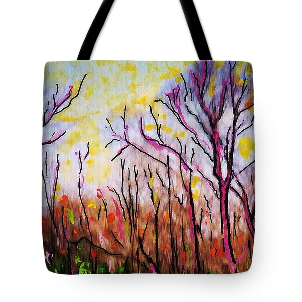Just Across The River Tote Bag by Sarah Loft
