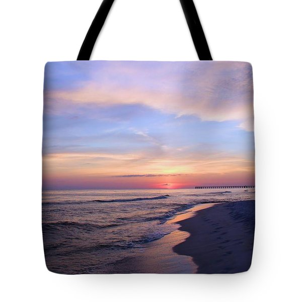 Tote Bag featuring the photograph Just After Sunset by Elizabeth Budd