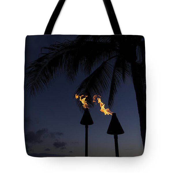 Just After Sunset The Beach Party Is Starting Tote Bag