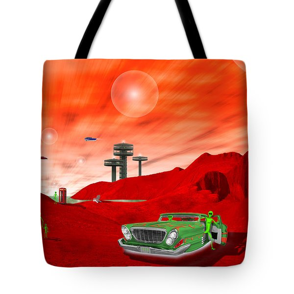 Just Another Day On The Red Planet 2 Tote Bag by Mike McGlothlen
