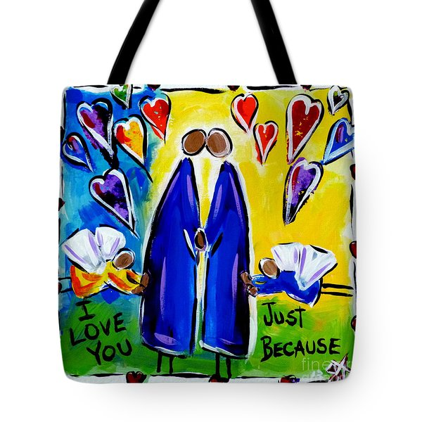 Tote Bag featuring the painting Just Because by Jackie Carpenter