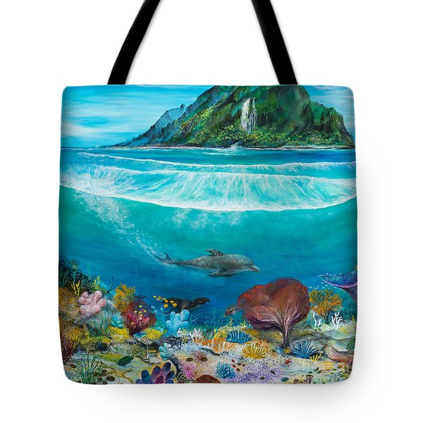 Just Below The Surface Tote Bag by John Garland  Tyson