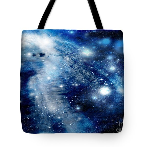 Tote Bag featuring the digital art Just Beyond The Moon by Janice Westerberg