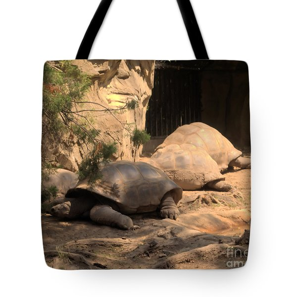 Just Chillin' Tote Bag by Luther   Fine Art