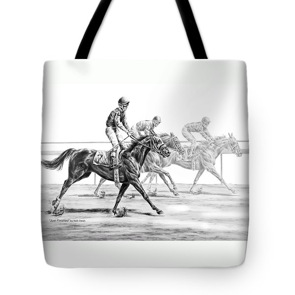 Just Finished - Horse Racing Print Tote Bag