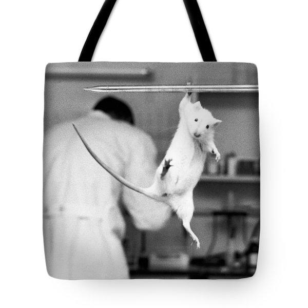 Just Hanging Lab Rat Tote Bag