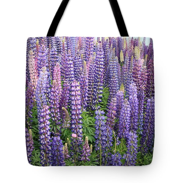 Tote Bag featuring the photograph Just Lupins by Nareeta Martin