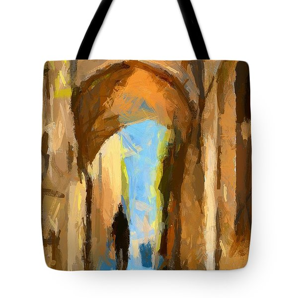 Just Me And My Shadow Tote Bag by Dragica  Micki Fortuna
